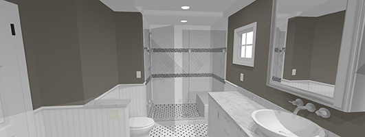 3D image of a new Bathroom