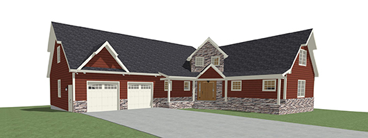 3D image of a custom home